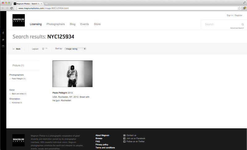 Screen cap of the Magnum site before the image was removed.